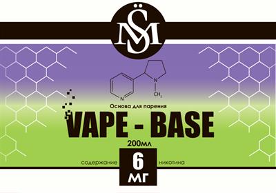Основа SM Vape-Base 200 мл., 6 мг./мл. - фото 6285