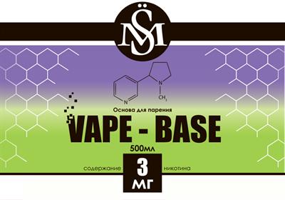 Основа SM Vape-Base 500 мл., 3 мг./мл. - фото 6289