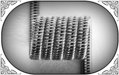 STAGGERED CLAPTON COIL (NiCr) MTL - фото 6970