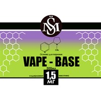 Основа Vape Base PG30%VG/70% 0,5 л (Крепость 1,5 мг)