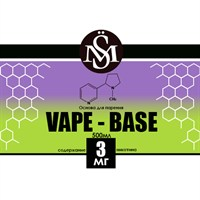 Основа Vape Base PG50%/VG50% 0,5 л (Крепость 3 мг)