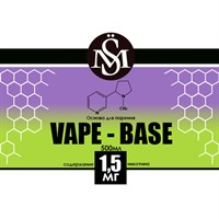 Основа Vape Base PG50%/VG50% 0,5 л (Крепость 1,5 мг)