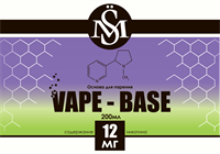 Основа SM Vape-Base 200 мл., 12 мг./мл.