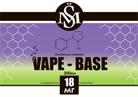 Основа SM Vape-Base 200 мл., 18 мг./мл.