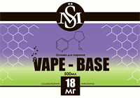 Основа SM Vape-Base 500 мл., 18 мг./мл.