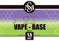 Основа SM Vape-Base 500 мл., 1,5 мг./мл.