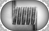 STAGGERED CLAPTON COIL (NiCr) MTL