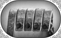 Corrugated Reliefed Coil (NiCr,NiCr 05) MTL/RDA/RTA/RDTA/RDCA
